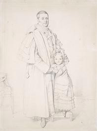 Ingres | Portrait of Augustin Jordan and his Daughter Adrienne | Giclée Paper Print