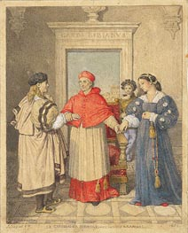 Ingres | The Betrothal of Raphael and the Niece of Cardinal Bibbiena | Giclée Paper Print