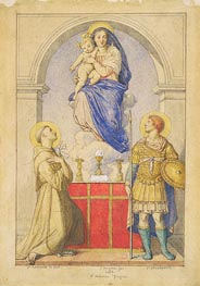 Ingres | The Virgin and Child Appearing to Saints Anthony of Padua and Leopold of Carinthia | Giclée Paper Print