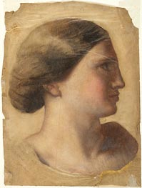 Ingres | Head of a Young Woman | Giclée Paper Print