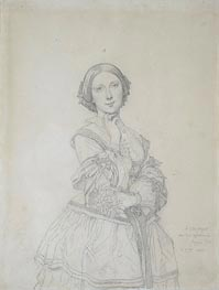 Ingres | Mlle. Cecile-Marie Panckoucke, later Mme. Jacques-Raoul Tournouer | Giclée Paper Print