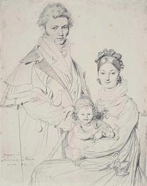 Ingres | The Alexandre Lethiere Family | Giclée Paper Print