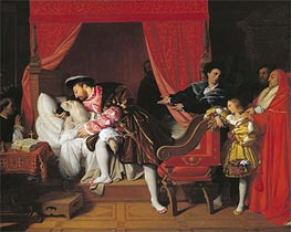 Ingres | Francis I Receives the Last Breaths of Leonardo da Vinci | Giclée Paper Print