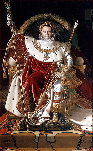 Napoleon I on the Imperial Throne, 1806 | Ingres | Giclée Canvas Print