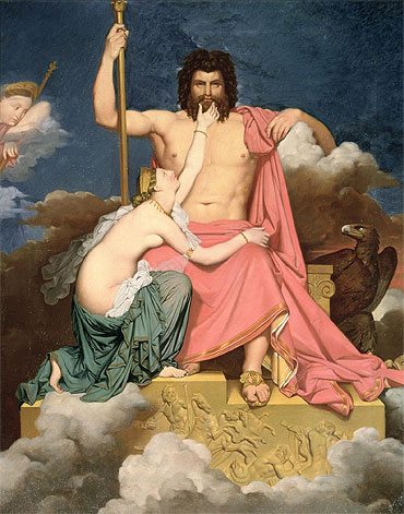 Jupiter and Thetis, Undated | Ingres | Painting Reproduction