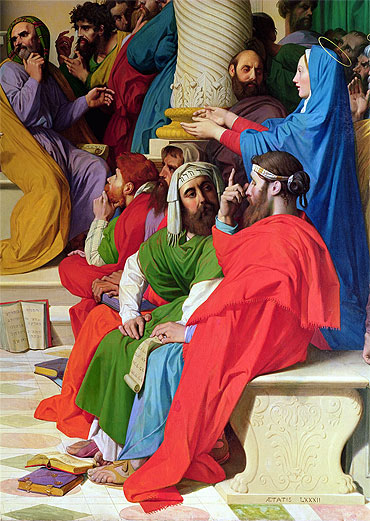 Jesus Among the Doctors (Detail), 1862 | Ingres | Giclée Canvas Print