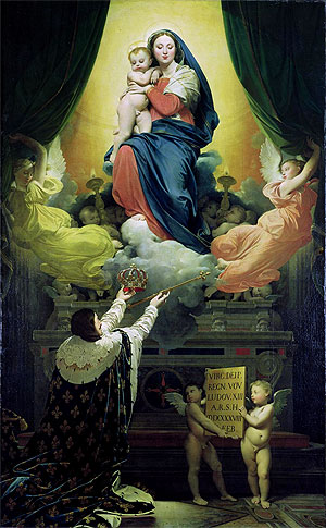The Vow of Louis XIII, 1824 | Ingres | Giclée Canvas Print