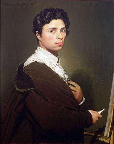 Self Portrait at the Age of Twenty-Four, 1804 | Ingres | Giclée Canvas Print