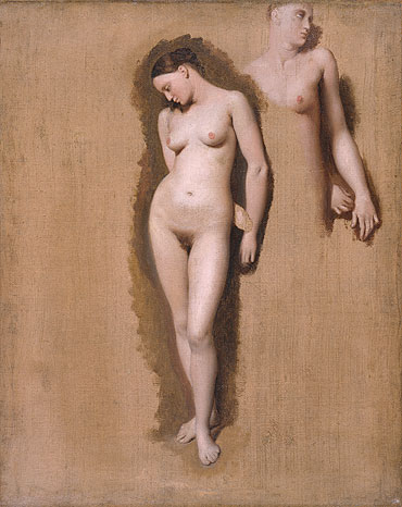 Study for 'Roger Freeing Angelica', 1818 | Ingres | Giclée Canvas Print