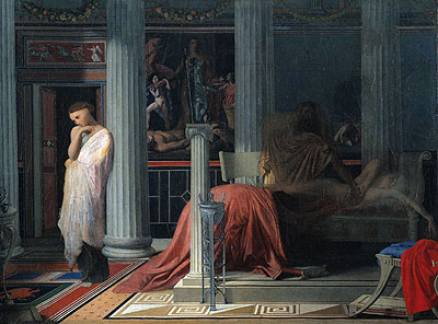 Antiochus and Stratonice, c.1834 | Ingres | Giclée Canvas Print