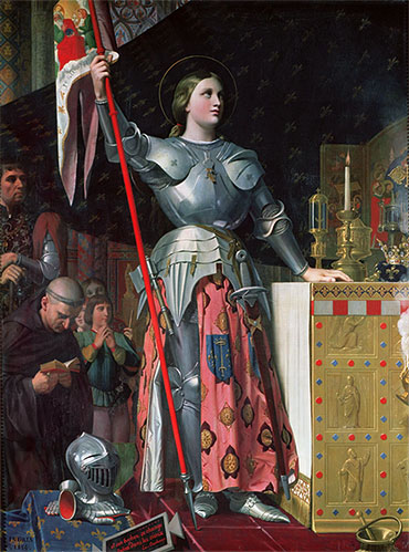 Joan of Arc at the Coronation of King Charles VII, 17th July 1429, 1854 | Ingres | Giclée Canvas Print