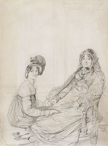 Portrait of Mrs. George Vesey and Her Daughter Elizabeth Vesey, later Lady Colthurst, 1816 | Ingres | Giclée Paper Print