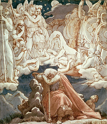 The Dream of Ossian, Undated | Ingres | Giclée Paper Print