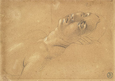 Study of the Head of Octavia in 'Virgil Reading the Aeneid to Augustus', c.1812 | Ingres | Giclée Paper Print