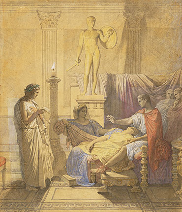 Virgil Reading the Aeneid to Augustus, 1850 | Ingres | Giclée Paper Print