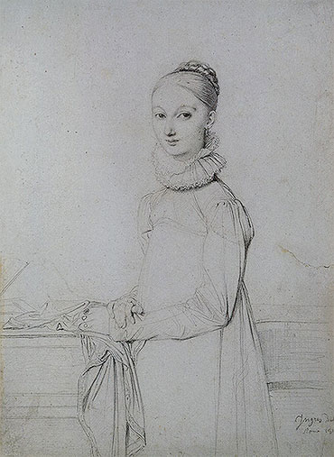 Portrait of a Young Woman, c.1815 | Ingres | Giclée Paper Print