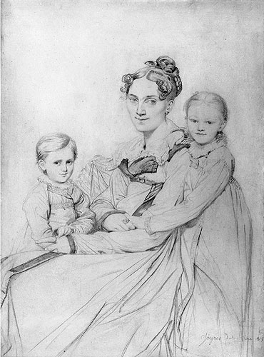 Frau Reinhold and Her Daughters, 1815 | Ingres | Painting Reproduction