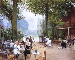 Jean Beraud | The Cycle Stop in the Bois de Boulogne, c.1900 | Giclée Canvas Print