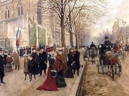 Jean Beraud | After the Service at the Church of Holy Trinity, Christmas 1890, 1890 | Giclée Canvas Print