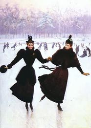 Jean Beraud | Women Skating, Undated | Giclée Canvas Print
