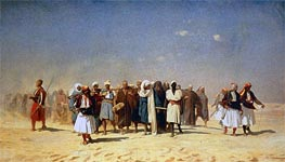 Gerome | Egyptian Recruits Crossing the Desert, 1857 | Giclée Canvas Print