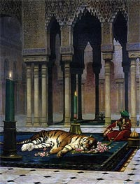 Gerome | Pain of the Pasha - the Dead Tiger | Giclée Canvas Print