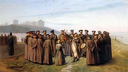 Gerome | Recreation in a Russian Camp. Remembering Moldavia, 1855 | Giclée Canvas Print