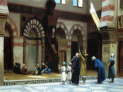 Prayer in the Mosque of Caid Bey in Cairo, 1895   Gerome   Painting Reproduction