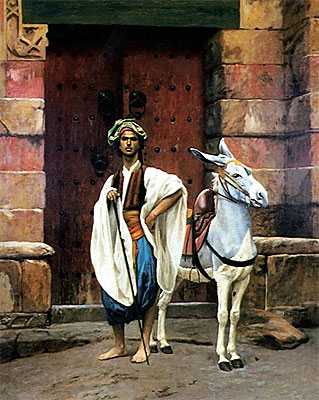 Sais and His Donkey, undated   Gerome   Painting Reproduction