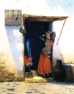 Woman of Cairo at Her Door, 1897 | Gerome | Painting Reproduction
