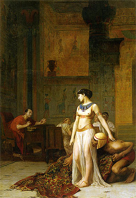 Cleopatra Before Caesar, 1866 | Gerome | Painting Reproduction