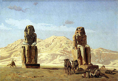 Memnon and Sesostris, 1856 | Gerome | Giclée Canvas Print