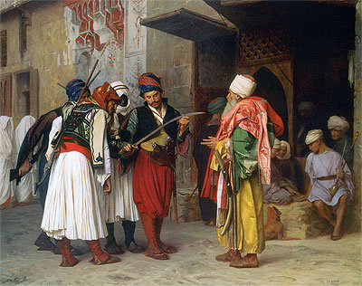 Travelling Merchant in Cairo, 1866 | Gerome | Giclée Canvas Print