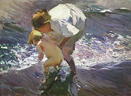 Sorolla y Bastida | Bathing on the Beach | Giclée Canvas Print