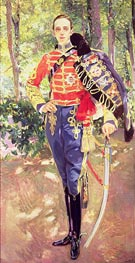 Sorolla y Bastida | Portrait of King Alfonso XIII wearing the uniform of the Hussars, 1907 | Giclée Canvas Print