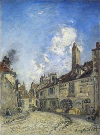 Jongkind | Street at Nevers, the House of Adam Bellaud | Giclée Canvas Print