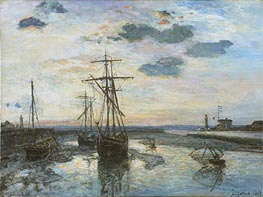 Jongkind | Port of Honfleur at Evening | Giclée Paper Print