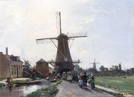 Jongkind | Promenade at the Edge of the Channel, Holland, 1856 | Giclée Canvas Print
