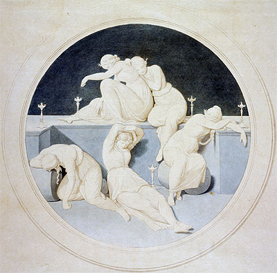 Overbeck | The Five Foolish Virgins Sleeping, c.1860 | Giclée Paper Print