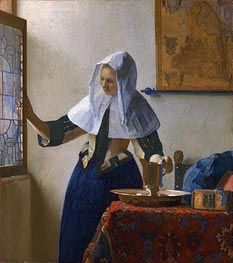 Vermeer | Young Woman with a Water Pitcher, c.1664/65 | Giclée Canvas Print