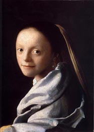 Vermeer | Portrait of a Young Woman | Giclée Canvas Print