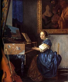 Vermeer | Lady Seated at a Virginal | Giclée Canvas Print