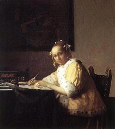 Vermeer | A Lady Writing a Letter | Giclée Canvas Print