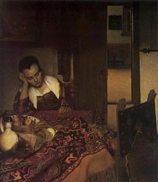 Vermeer | A Girl Asleep | Giclée Canvas Print
