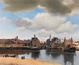Vermeer | View of Delft | Giclée Canvas Print