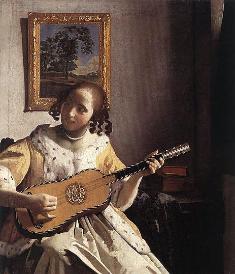 The Guitar Player, c.1670   Vermeer   Painting Reproduction
