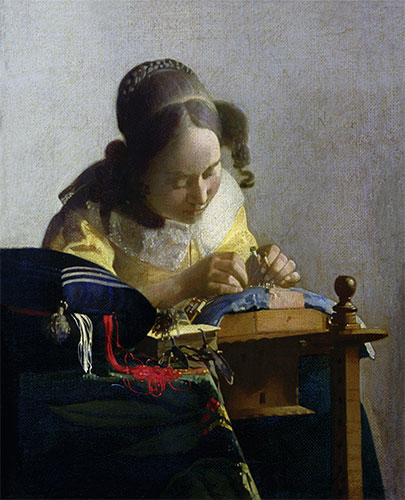 The Lacemaker, c.1669/70 | Vermeer | Painting Reproduction