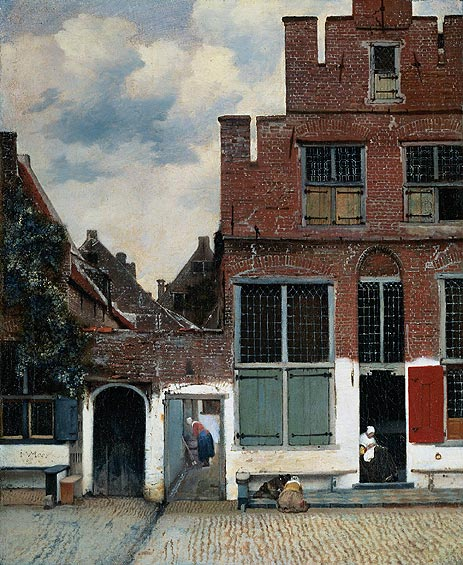 The Little Street, c.1657/58   Vermeer   Painting Reproduction