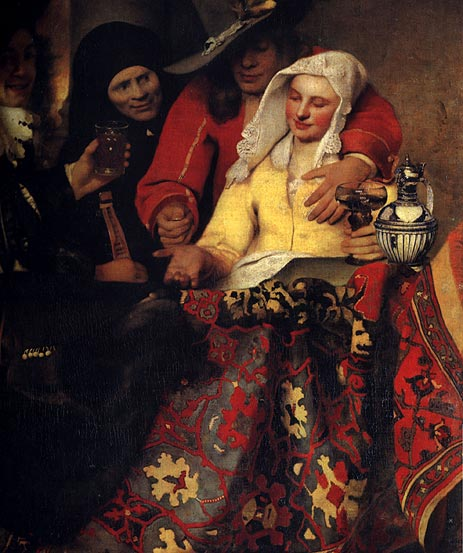 The Procuress, 1656 | Vermeer | Giclée Canvas Print