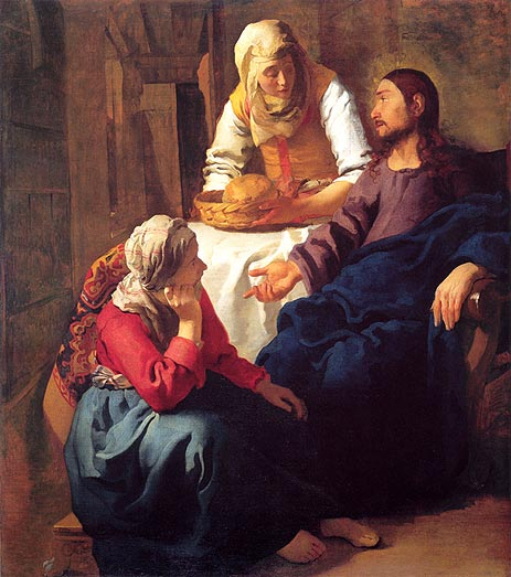 Christ in the House of Mary and Martha, c.1655   Vermeer   Painting Reproduction